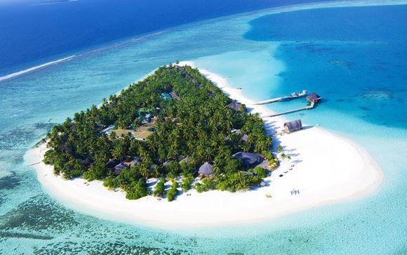 Beachfront Villa auf privatem Atoll im Paradies