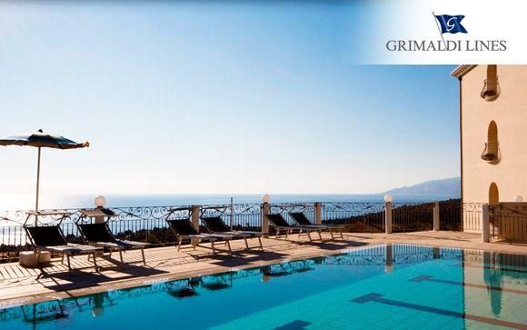 Frente al mar en media pensión con opción a Grimaldi