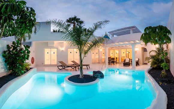 Relax en tu villa con piscina privada en media pensión