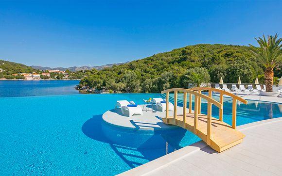 Fantástico resort a orillas de una tranquila bahía