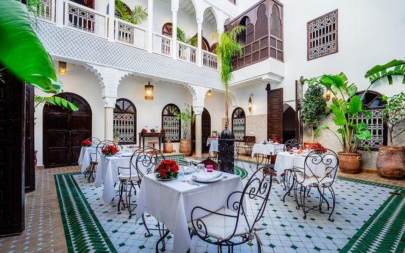 Un encantador y romántico oasis en la medina