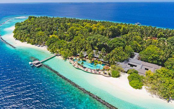 Vacaciones del lujo en el paraíso Índico