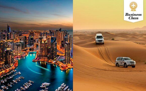 Lujo 5*, excursión al desierto y vuelos en Business con Emirates