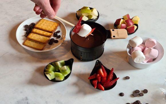 Appréciez votre fondue au chocolat...