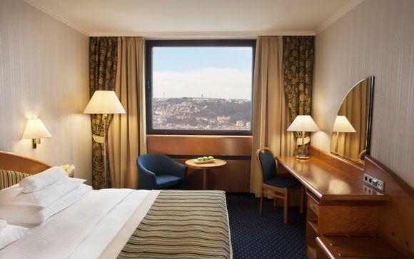 Hôtel de Prague tout confort avec vue panoramique