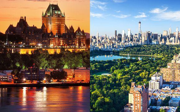 Combiné Québec et New York