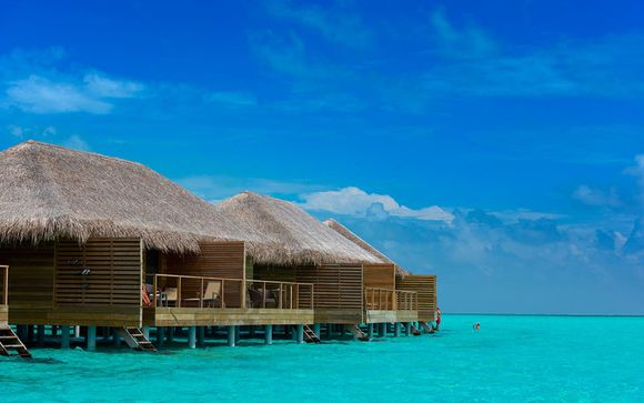 Photographie de la Lagoon Villa sur pilotis donnant directement sur l'océan des îles Maldives