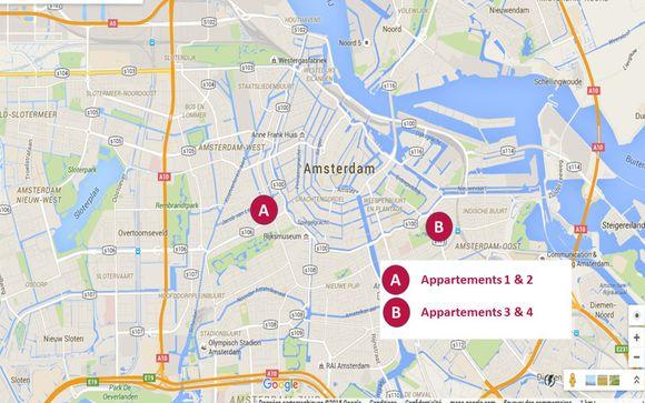 Localisation des 4 appartements