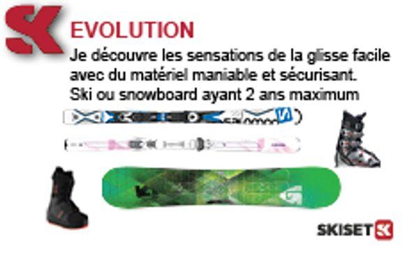 La location de matériel de ski