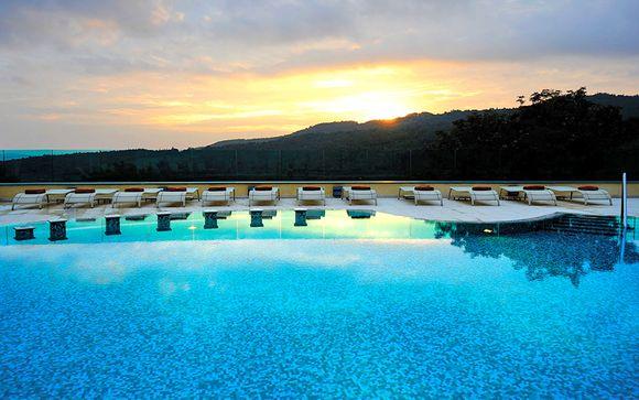 Resort 5* con spa in riserva naturale nelle terme di Petriolo