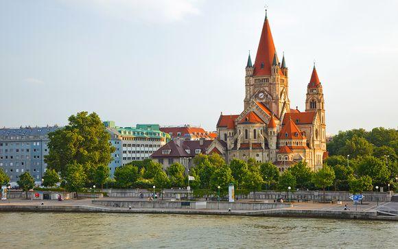L'itinerario da Bucarest a Vienna per le partenze del 22 luglio e dell'11 agosto