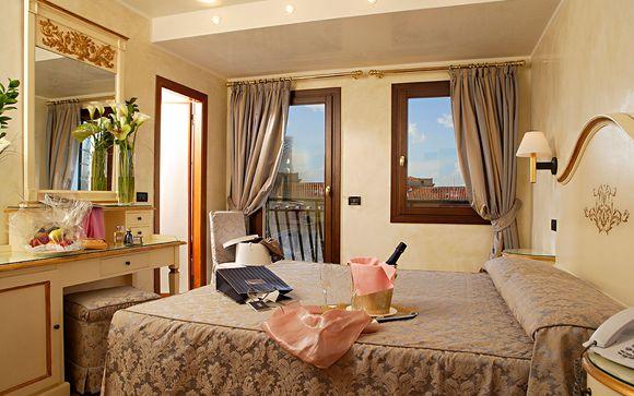 Atmosfere di charme e relax in accogliente hotel veneziano