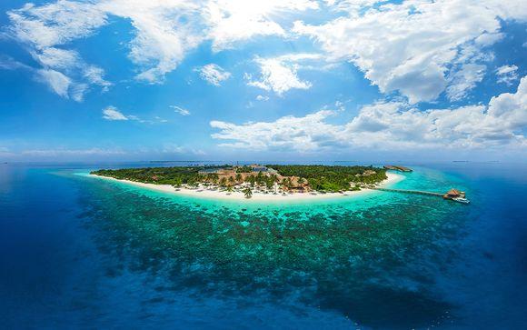 Villa con jacuzzi su un atollo paradisiaco