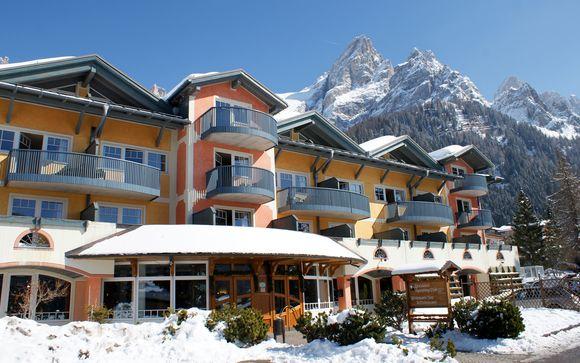 Tradizione alpina in Family Resort con SPA