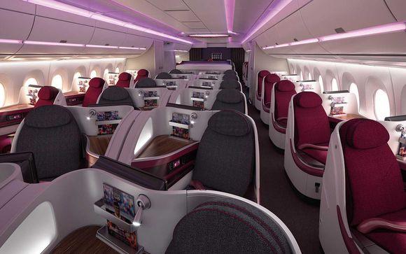 Trakteer uzelf op een luxe vlucht met Qatar Airways