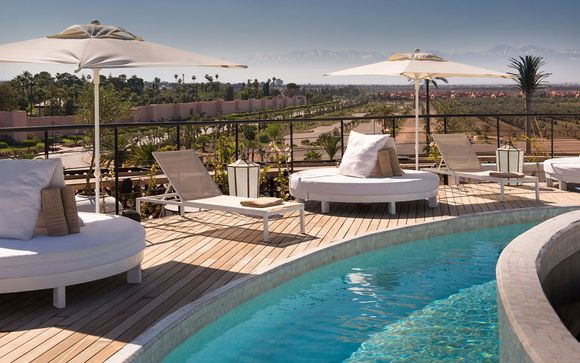 Chic Rooftop Luxury with Spa Treatment