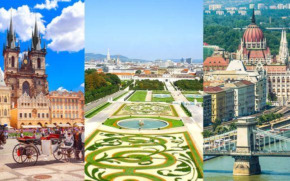 Hotel Royal Prague 4*, Roomz Vienna Prater 4* & Mamaison Hotel Andrassy Budapest 4*