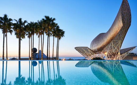 Fuga di lusso catalana con vista sulla Barceloneta Beach