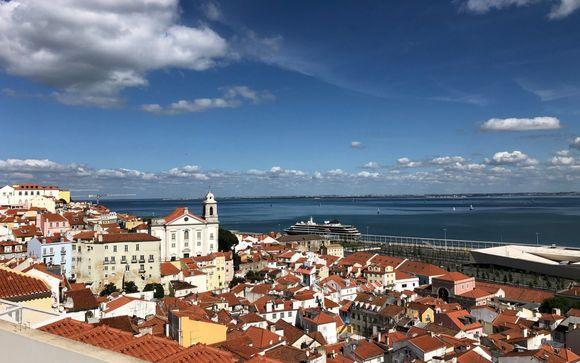 Design e vista panoramica nel centro di Lisbona